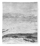 Suez Canal: Lake, 1869 Fleece Blanket