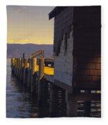Sugar Pine Point Dock Fleece Blanket