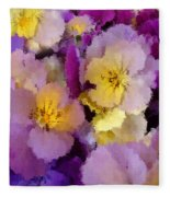 Sugared Pansies Fleece Blanket