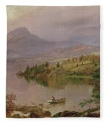 Sugarloaf From Wickham Lake Fleece Blanket