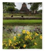 Sukhothai Historical Park Fleece Blanket
