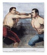 Sullivan & Kilrain Fight Fleece Blanket