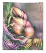 Summer Breeze -abstract Art Fleece Blanket by Sipo Liimatainen