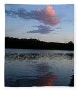 Summer Cloud Reflections Fleece Blanket