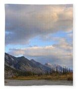 Summer Clouds Over Colin Mountain Fleece Blanket