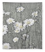 Summer Daisies Fleece Blanket