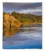 Summer Evening On Little River Fleece Blanket