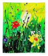 Summer Garden Fleece Blanket