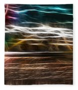 Summer Harvest Storm Fleece Blanket