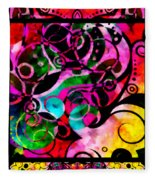 Summer Introspection Of An Extrovert Triptych Vertical Fleece Blanket