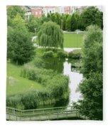 Summer Park In Belgium Fleece Blanket