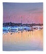 Summer Sails Reflections Fleece Blanket