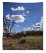 Summer Sky In The Fall Fleece Blanket