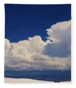 Summer Storms Over The Mountains 4 Fleece Blanket
