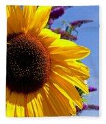 Summer Sunflower Fleece Blanket