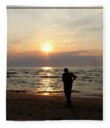 Summer Sunset Solitude Fleece Blanket