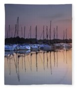 Summertime Sailing Fleece Blanket