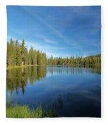 Summit Lake Blues Fleece Blanket