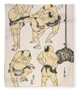 Sumo Wrestlers, 1817 Fleece Blanket