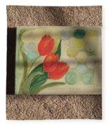 Sun And Tulips Fleece Blanket