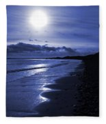 Sun At The Shore II Fleece Blanket