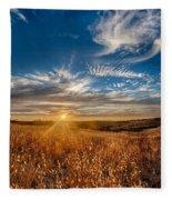 Sun Enchanted Evening I Fleece Blanket