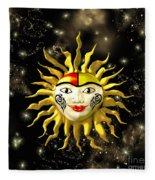 Sun Face  Fleece Blanket