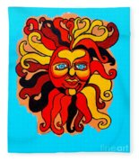 Sun God II Fleece Blanket