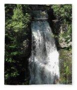 Sun On The Bushkill Falls  Fleece Blanket