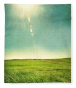 Sun Over Field Fleece Blanket