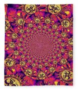 Sun Pattern Fleece Blanket