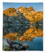 Sun Rises On Upper Sardine Lake Fleece Blanket