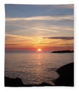 Sun Up On The Up Fleece Blanket