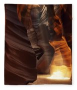 Sunbeam In Antelope Canyon Fleece Blanket