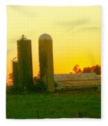 Sundown At The Ranch Fleece Blanket