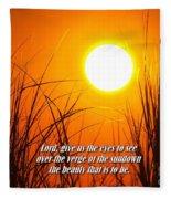 Sundown Beauty Fleece Blanket