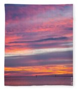 Sundown In Dunedin Fleece Blanket