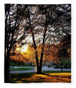 Sundown In Stanley Park Fleece Blanket