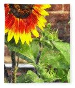 Sunflower 3 Sf3wc Fleece Blanket