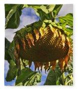 Sunflower At Fall Fleece Blanket