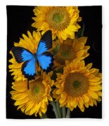 Sunflower Bouquet  Fleece Blanket