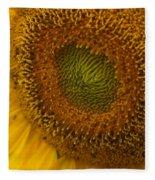 Sunflower Closeup Fleece Blanket