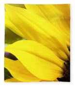Sunflower Closeup In Landscape Fleece Blanket