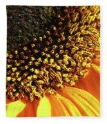Sunflower Edge Fleece Blanket