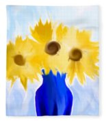 Sunflower Fantasy Still Life Fleece Blanket