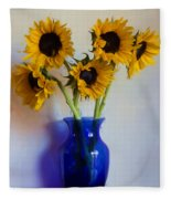 Sunflower Still Life Fleece Blanket