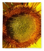 Sunflower Sunburst Fleece Blanket