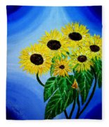 Sunflowers 1 Fleece Blanket