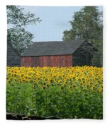 Sunflowers 8 Fleece Blanket