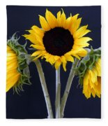 Sunflowers Three Fleece Blanket